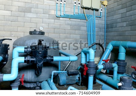 Swimming pool filtration systems sand filters Specially system are high-rate sand filters. Sand filters consist of a large tank, made of fiberglass #714604909