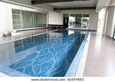 swimming pool in a luxury house