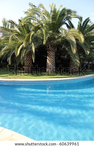 Swimming pool in a residential houses in Godella Valencia Spain