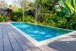 swimming pool in beautiful park