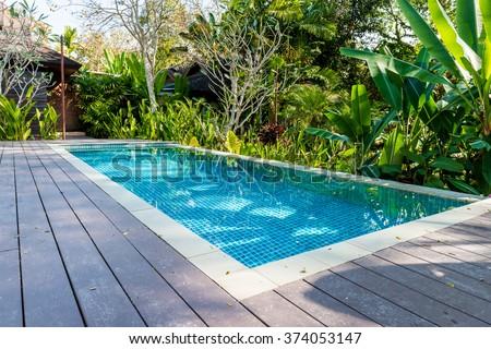 swimming pool in beautiful park #374053147