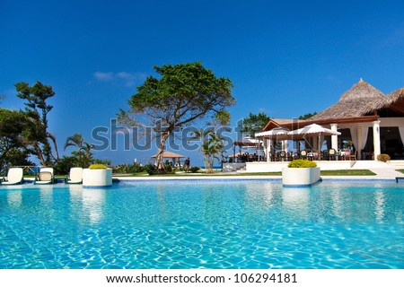 Swimming pool in caribbean resort