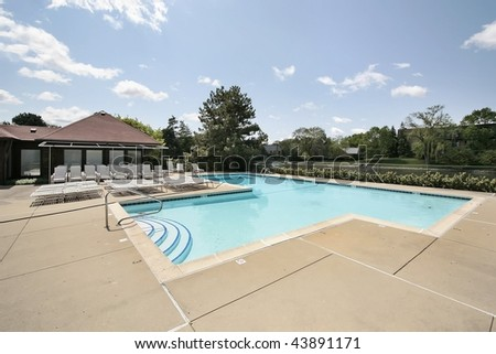 Swimming pool in condominium complex