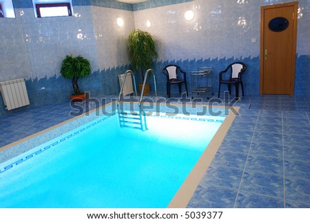 Swimming pool in private house