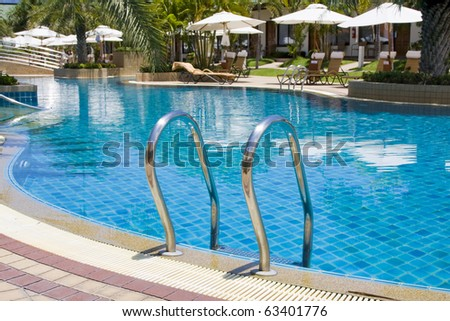 Swimming pool in spa resort