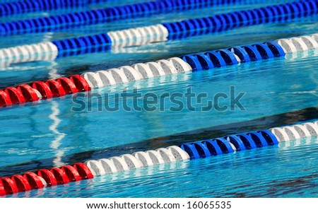 Swimming pool lanes in competition pool