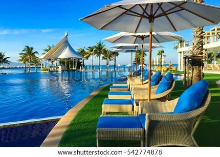 swimming pool near beach,Pattya Thailand #542774878
