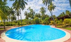 Swimming pool of hotel, Sri Lanka