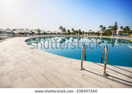 Swimming pool of luxury hotel Tunisia