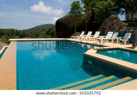 swimming pool on hill