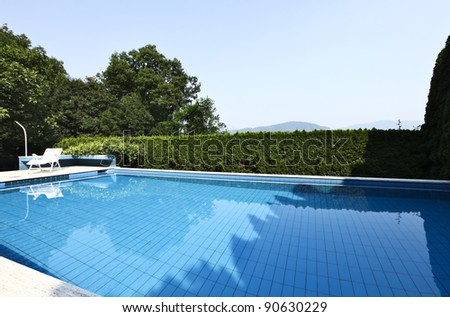 swimming pool outdoor at sunny day