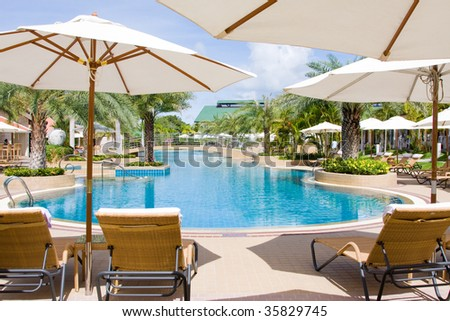 Swimming pool. Pattaya city in Thailand .