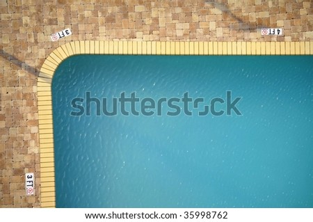 Swimming pool room for your text