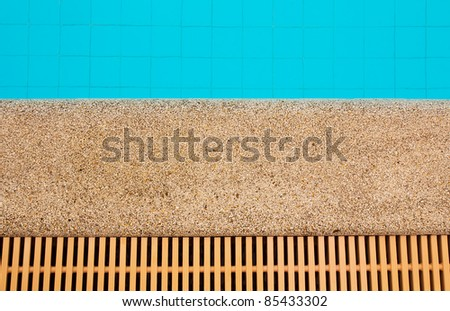 swimming pool, top view