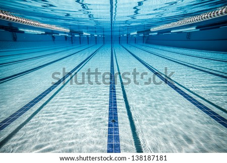swimming pool under water ...