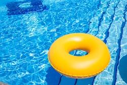 Swimming Pool yellow Inner Tube  pool