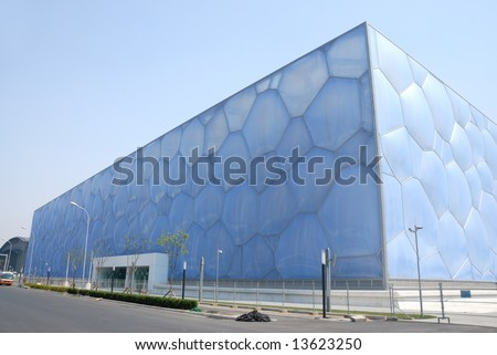 "swimming stadium ""watercube"" for Beijing 2008 olympic games #13623250"