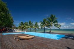 Swimmingpool view at Koh Phayam,Ranong Thailand