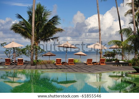 Swimmingpool   with beach