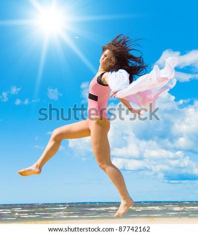 Swimsuit Portrait Happiness