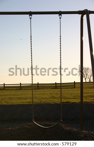 Swing in the sunset