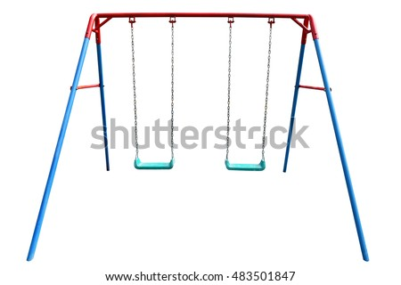 Swing isolated on white background with clipping path #483501847