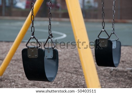 Swing set on Playground in Baltimore