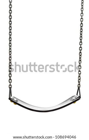 swinging isolated on a white background