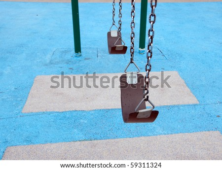 swings on blue