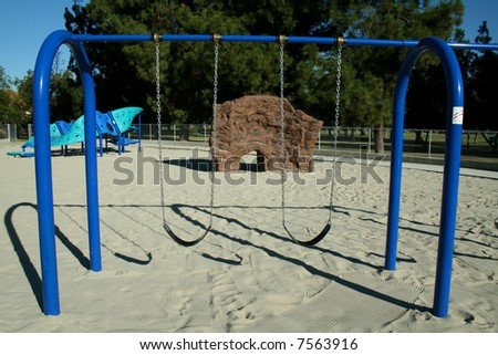 Swingset - stock photo