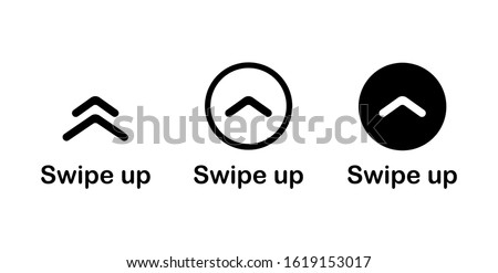 Swipe up. Text swipe up. Social media concept. Vector illustration EPS 10. Foto stock ©