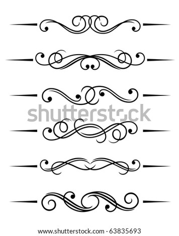Swirl elements and monograms for design and decorate. Vector version also available in gallery