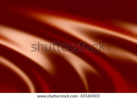 swirl of chocolate cream - stock photo