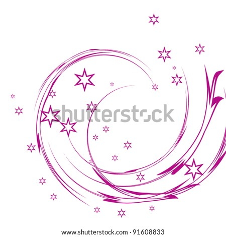swirling white stars