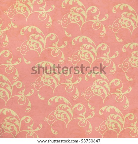 Swirls Background in Pink and Tan