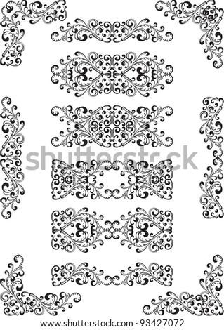 Swirly ornament element on white