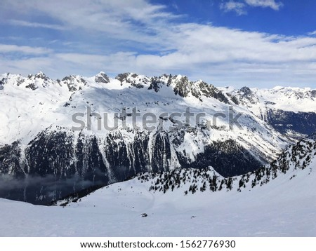 Swiss Alp Mountains covered in snow #1562776930