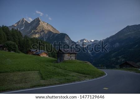 Swiss alpine scenery Alpine village #1477129646