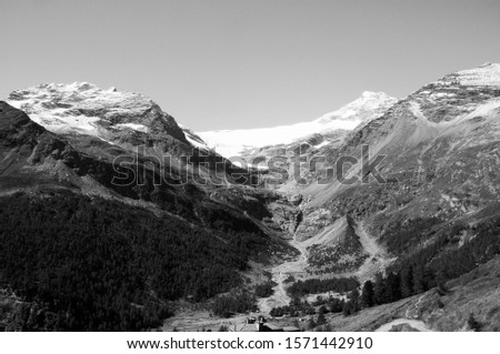 Swiss Alps: Alp Grüm, Mountain-landscape upper engadin, posciavo  #1571442910