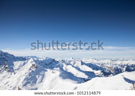 Swiss Alps in winter #1012114879
