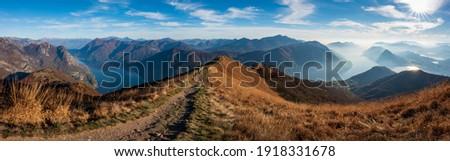 Swiss Alps Panorama Ticino Monte Boglia