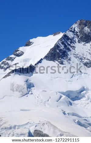 Swiss alps: The Piz Bernina glacier at Bernina group mountains near Pontresina in the upper Engadin #1272291115