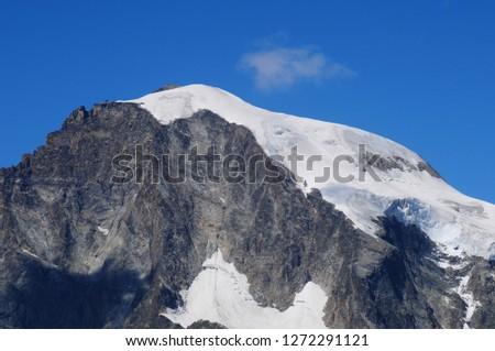 Swiss alps: The Piz Palü glacier at Bernina group mountains near Pontresina in the upper Engadin #1272291121