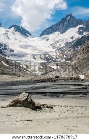 Swiss Alps with snowy mountains and  glacier  #1178678917