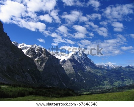 Swiss beauty, Eiger above Grindelwald from Grosse Sheidegg