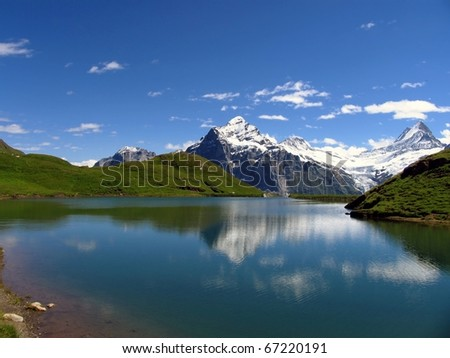 Swiss beauty, Schreckhorn and Wetterhorn  from Bachalpsee level