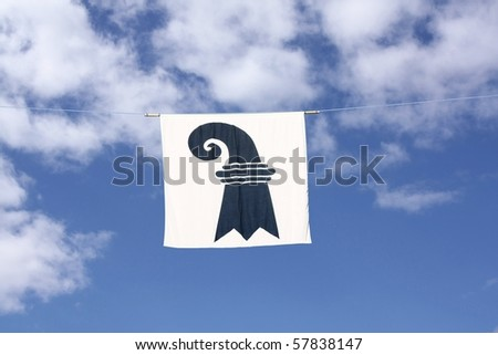 Swiss Canton Flag Series: Basel-City; the black crosier resembles a shepherd's crook carried by bishops