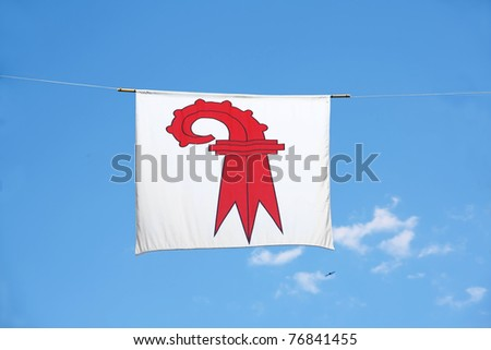 Swiss Canton Flag Series: Canton Basel-land: the red crosier resembles a shepherd\'s crook carried by bishops