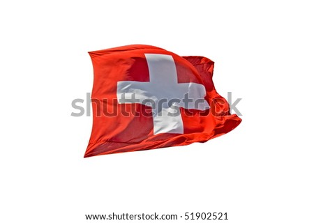 Swiss Flag - stock photo