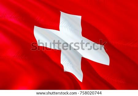 Swiss flag. Flag of Swiss. 3D Waving Swiss flag design. Red and white flag 3D rendering. 3D Waving sign design. Switzerland Waving sign background wallpaper. pattern background download HD wallpaper